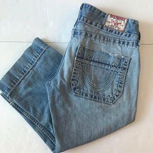 True Religion Sammy Big T Crop Jeans Size 30